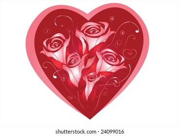 hearts with roses
