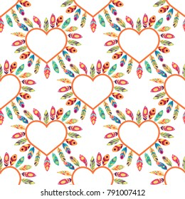 Hearts seamless pattern. Colorful pink hearts. Love. Valentine's Day background.