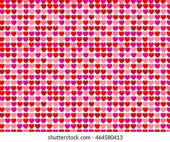 Hearts seamless pattern love background