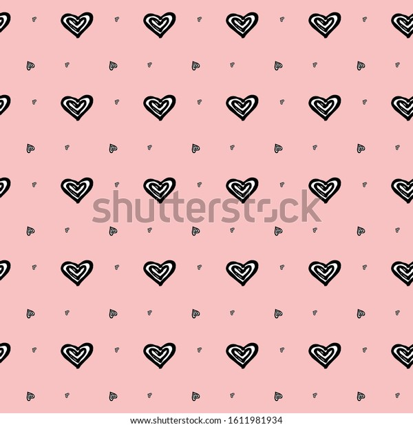 hearts seamless pattern polka dot hearts stock vector royalty free 1611981934 shutterstock