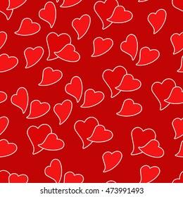 Hearts. Seamless pattern. Vector illustration.