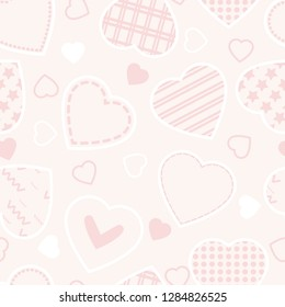 Hearts seamless vector pattern,Valentine day's background.