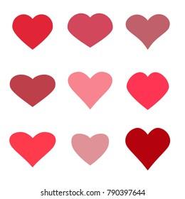 Hearts set icons