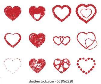 Hearts Sketch