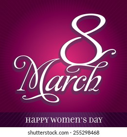 Hearts Symbol Happy Women's Day Greeting Card