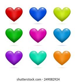 Hearts Valentine's day vector background