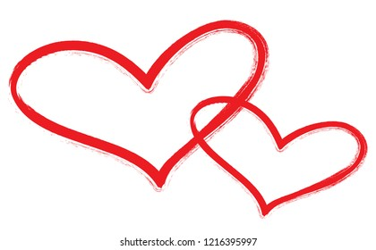 Hearts vector. Hand drawn icons. Trendy hearts isolated on white background. Useful for web site, greeting card and Valentine's day. Creative art sketch, modern concept. Vector illustration