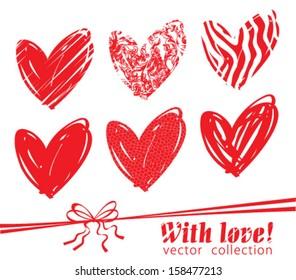 Hearts Vector Icon Set
