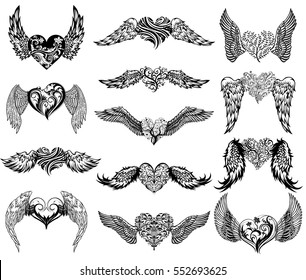 heart with wings images stock photos vectors shutterstock rh shutterstock com heart wings tattoo chest heart wing tattoos pictures