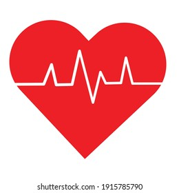 Heart-shaped medical device measures the pulse to check how the heart pulse is, helping the patient quickly.