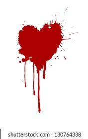 Heart-shaped splash