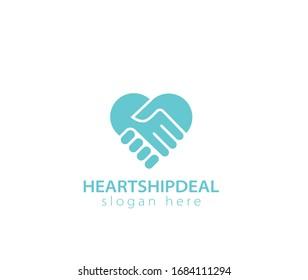 Heartship deal design logo sign