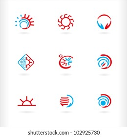 Heat and cold icons