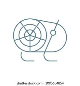 Heat gun linear icon concept. Heat gun line vector sign, symbol, illustration.