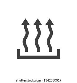Heat icon three arrow up concept