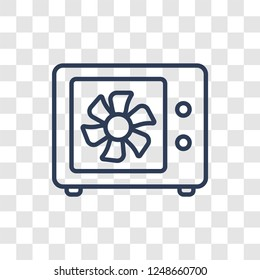 heat leak icon. Trendy linear heat leak logo concept on transparent background from Smarthome collection