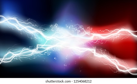 Heat lighting, arc. Electrical energy. Vector illustration.
