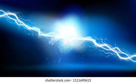 Heat lighting. Electrical energy. Vector illustration.