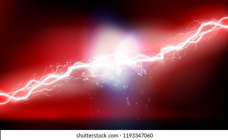 Heat lighting. High voltage energy. Vector illustration.