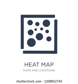 Heat Map icon. Trendy flat vector Heat Map icon on white background from Maps and Locations collection, vector illustration can be use for web and mobile, eps10