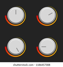 Heat or sound switch vector set in different settings.