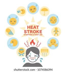 Heat Stroke Infographic Images, Stock Photos & Vectors