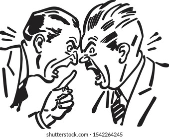 Heated Argument - Two Men Having An Angry Discussion