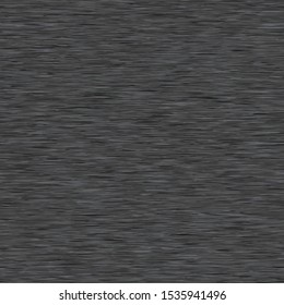 Heather Dark Gray Marl Melange Seamless Repeat Vector Pattern Swatch.  Black marled jersey knit texture.