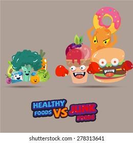 Junk Food Vs Healthy Food Images, Stock Photos & Vectors | Shutterstock