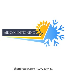 Heating cooling symbol for business