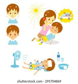 Heatstroke Ambulance First aid