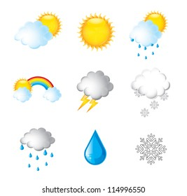 heavens in different states over white background vector illustration