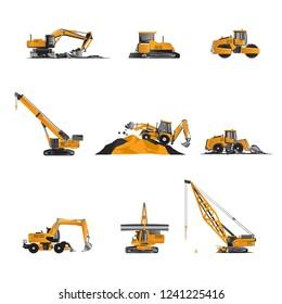 Heavy construction equipment.