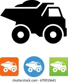 Heavy duty dump truck icon