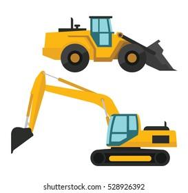 Clip Art Construction Heavy Machinery Dump Truck Road - Heavy Equipment  Clipart Png, Transparent Png , Transparent Png Image - PNGitem