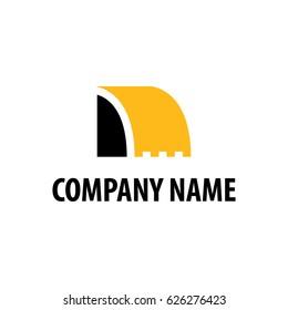 heavy equipment emblem logo vector