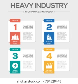 Heavy Industry Infographic Icons
