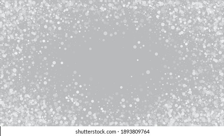 Heavy Snowfall, Falling Snow. Advertising Frame, New Year, Christmas Weather. Falling Snowflakes, Night Sky. Winter Holidays Storm Background. Elegant Scatter, Grunge White Glitter. Cold Heavy Snow