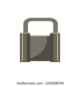 Heavy steel padlock. Protection, lock, access. Can be used for topics like privacy, internet security, antivirus