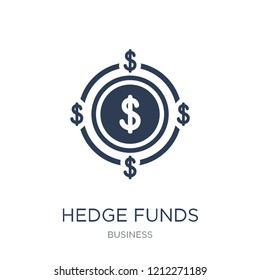 Hedge funds icon. Trendy flat vector Hedge funds icon on white background from Business collection, vector illustration can be use for web and mobile, eps10