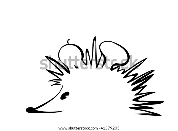 hedgehog art lines