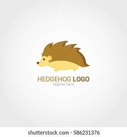 Hedgehog Logo Design Template. Vector Illustration