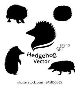 Hedgehog set, vector, eps 10
