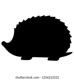 Hedgehog silhouette isolated