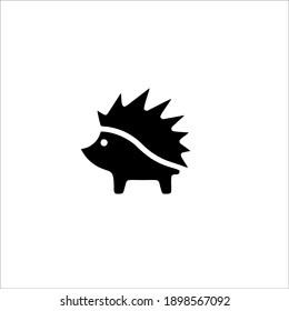 Hedgehog Symbol Logo. Tattoo Design. Vector Illustration.