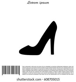 heel shoes - vector icon