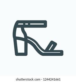 Heels icon, summer high heels sandals vector icon