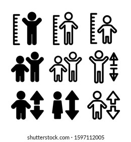 height icon isolated sign symbol vector illustration - high quality black style vector icons
