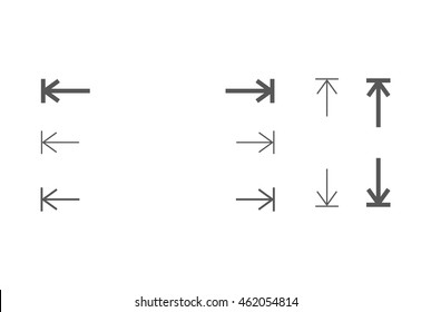 height and width icon, area or size, dimension icon