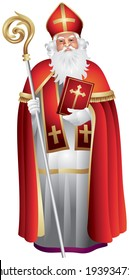 Heilige Nikolaus, Sinterklaas, winter holiday figure based on Saint Nicholas, Bishop of Myra, model for Santa Claus, celebrated with the giving of gifts on eve and feast of Saint Nicholas